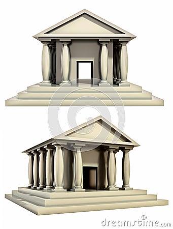 Antique roman building