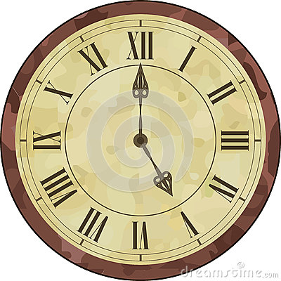 Antique Roman Numeral Clock Stock Vector Image 52131212