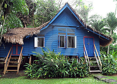 Antique rural Malaysian wooden house