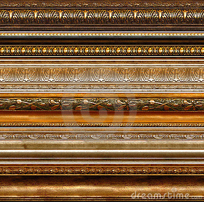 Free Antique Rustic Decorative Frame Patterns Royalty Free Stock Photo - 940365