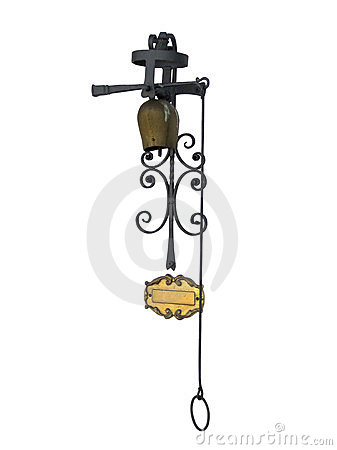 Free Antique Rusty Bell With Clipping Path Stock Photos - 23812153