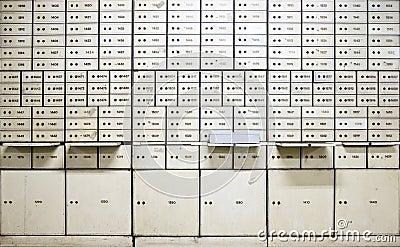 Antique safe deposit boxes