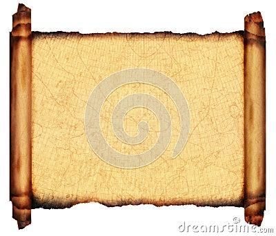 Antique Scroll Parchment Sea Chart 1910