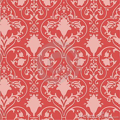 Antique Scroll Wallpaper Royalty Free Stock Images - Image: 4333279