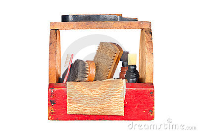 Antique shoe shine box