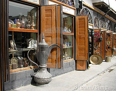 Antique shop in Damascus Citadel