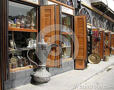 Antique shop in Damascus Citadel