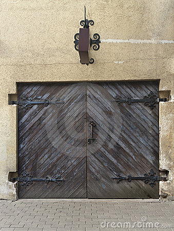 Antique shop door (or garage) in Riga