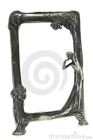 Antique silver art deco picture frame