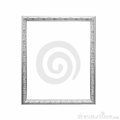 Free Antique Silver Frame Royalty Free Stock Photos - 12858968