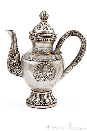 Free Antique Silver Teapot Stock Photography - 66837942