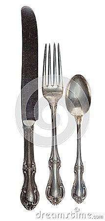 Free Antique Silverware Stock Image - 13551481