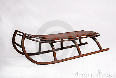 Antique Snow Sled Royalty Free Stock Image