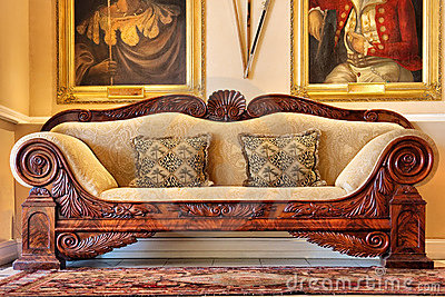 Antique sofa from historical wine estate