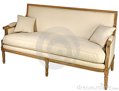 Antique sofa isolated
