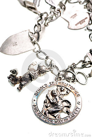 Antique st. christopher medal