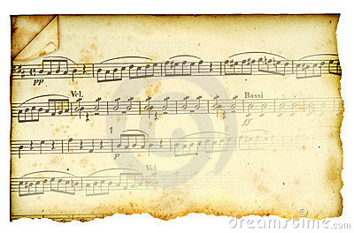 Antique Stained Music Score