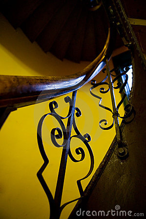Free Antique Stairwell Railing Stock Photo - 1788640
