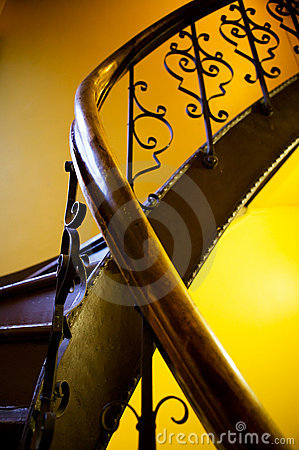 Free Antique Stairwell Railing Stock Photos - 1789773