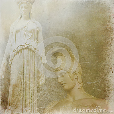 Antique statues background
