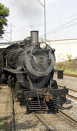 Antique steam locomotive