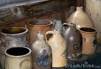 Antique Stoneware Jugs