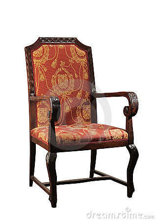 Antique straight backed chair