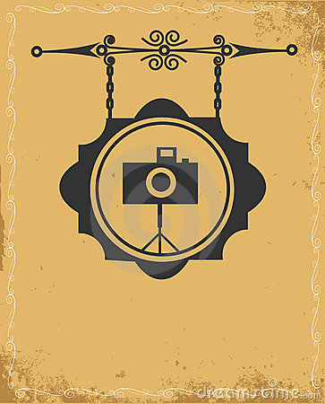 Free Antique Street Sign Of Photo Store Royalty Free Stock Photography - 21331197