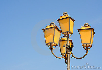 Antique streetlamp, Italy