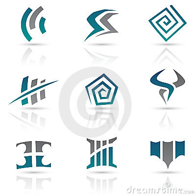 Antique Style Abstract Icons