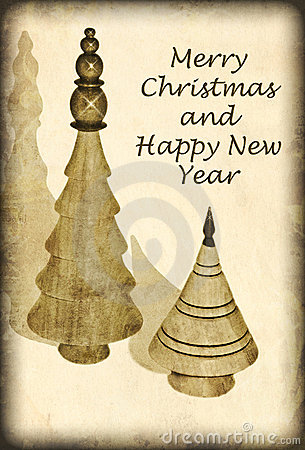 Free Antique Style Christmas Card Royalty Free Stock Photo - 21206255