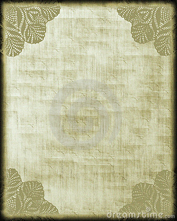 Antique Style Paper/ Lace Corners