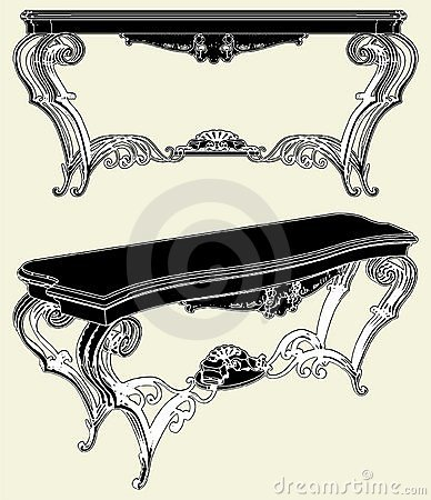 Antique Table Vector 01