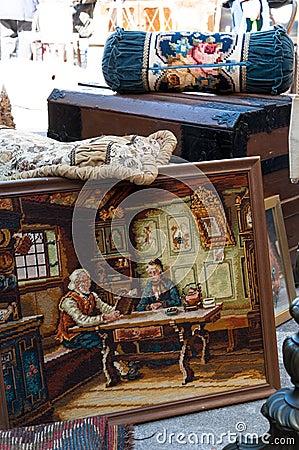 Antique tapestry stuff