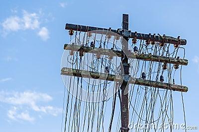 Vintage telephone lines poles bing images for Vintage glass telephone pole insulators