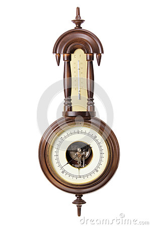 Free Antique Thermometer And Hygrometer Stock Images - 25886894