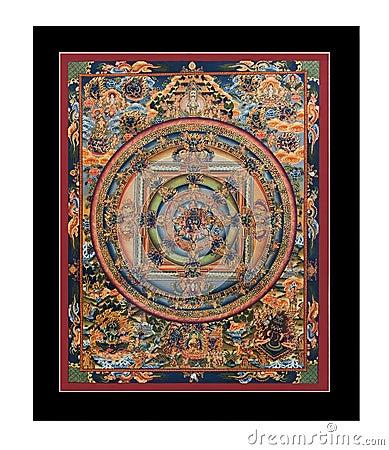 Antique tibetan tangka