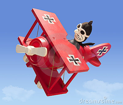 Antique Toy Airplane (with clipping path)