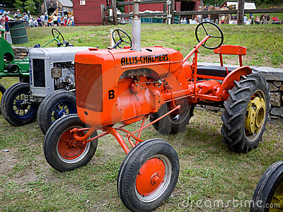 Antique Tractors  Editorial Photo