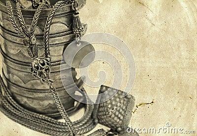 Antique Turkish bracelet and necklace