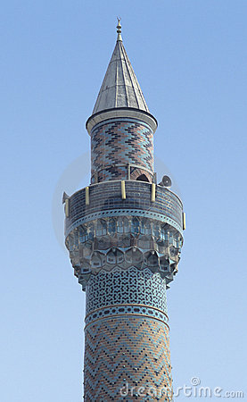 Antique turkish minaret