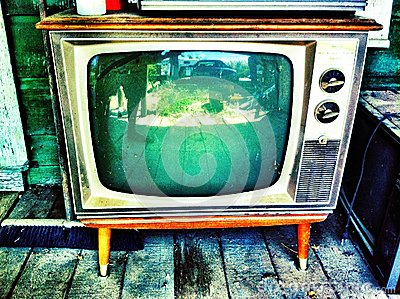 Antique tv Stock Photo