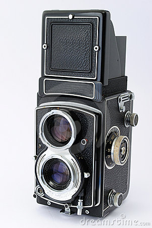 Antique Twin Lens Reflex Camera