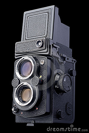 Antique Twin Lens Reflex Film Camera