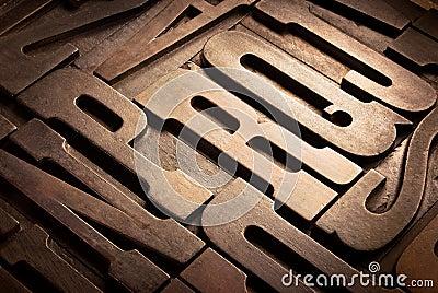 antique typographic blocks