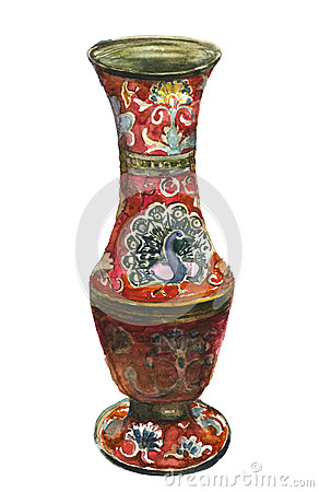 Free Antique Vase With Peacock Royalty Free Stock Photography - 89065527