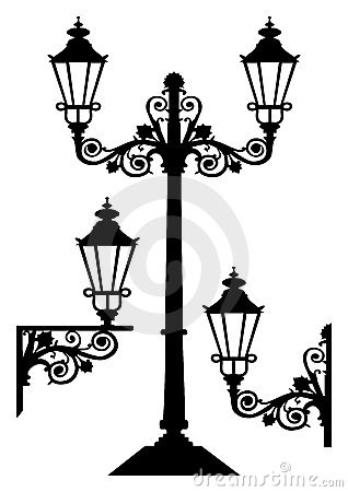 Free Antique Vector Street Lights Royalty Free Stock Image - 11083676