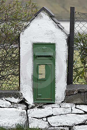 Antique Victorian mail box