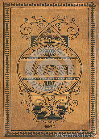 Free Antique Vintage Diary Journal Book Cover Royalty Free Stock Images - 34172839