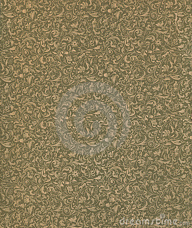 Free Antique Vintage Floral Book End Paper Pattern Stock Photo - 17633490